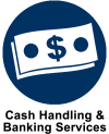 Cash Handling and Banking Services Icon