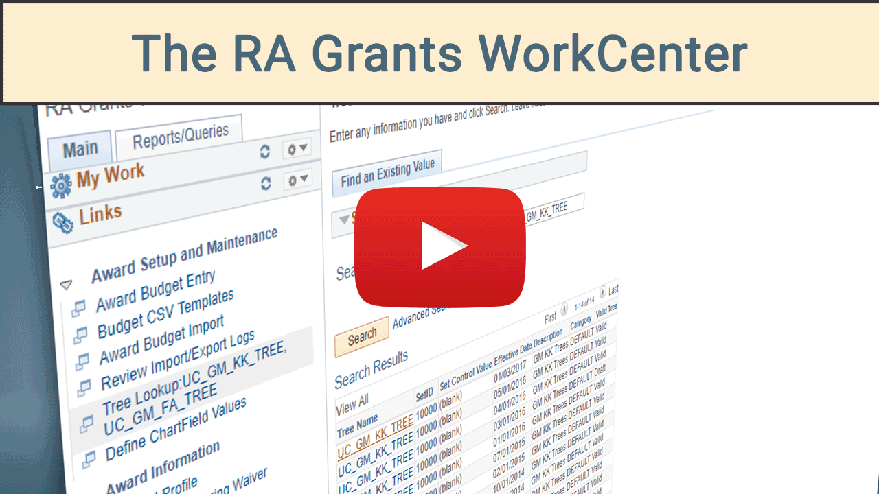 Video - The RA Grants WorkCenter