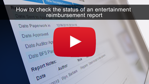 How to Check the Status of an Entertainment Reimbursement Report
