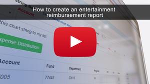 How to Create an Entertainment Reimbursement Report
